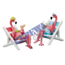 wholesale Other: Flamingo in deck chair, 2 / s, small, about 8cmH
