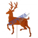 Garden plug deer, rusty, large, about 50cmH