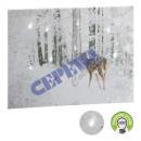 LED picture deer, glitter, ca. 40x30cm