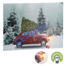 LED picture red car and Christmas tree, approx. 40