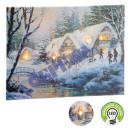 LED picture winter landscape, approx. 40x30cm