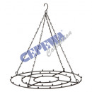 Frame for hanging, black, round, small, ca.33cmD