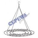 Frame for hanging, black, round, large, ca.42cmD