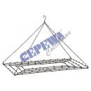 Frame for hanging, black, rectangular, ca.52cmB