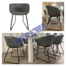 wholesale Office Furniture: chair Lounge , padded, gray, with armrest, approx.
