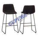 wholesale Office Furniture: barstool Lounge , padded, black, approx. 100cmH