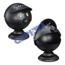 wholesale ashtray: Ashtray face Smoky, black, about 16cmH