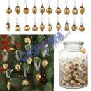 wholesale Pendant: Glass pendants, gold, 100 pieces