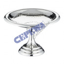 wholesale Decoration: Decorative bowl on foot, hammered, gr., Approx. 27