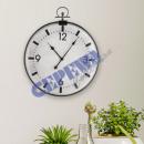 wholesale Clocks & Alarm Clocks: Wall clock, pocket watch, approx.65cmD
