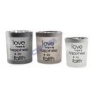 groothandel Windlichten & lantaarns: Lantaarns Liefde, diverse 3-voudig