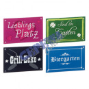 wholesale Parasols & Pavilions: Lawn Signs, 4 assorted, approx 19x12cm