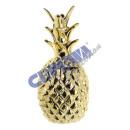 grossiste Epargner boite: Tirelire  ananas , or, kl., 15cm