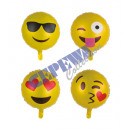 Großhandel Outdoor-Spielzeug: Folienballon 'Smile' 4/s ca.45cmD