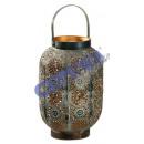 Lantern 'Mandala' metal, large, about 26cm