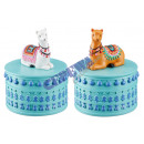 wholesale Jewelry Storage: Jewelry box 'Llama', 2 / s, ca.8cmH