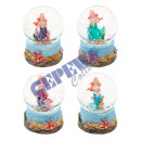 grossiste Boules de neige: Globe à neige 'Mermaid', petit, 4 / s, ca.