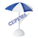 wholesale Parasols & Pavilions: Mini parasol, blue-white, ca.11,5cmH