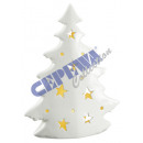 Tree with LED light, white, gr., Ca.24cmH