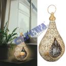 Metal lantern lantern with glass, mandala, S, appr