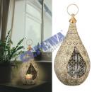 Metal lantern lantern with glass, mandala, M, appr