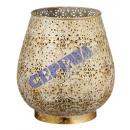 Windlight mandala with glass, gr, ca.20,5cmH