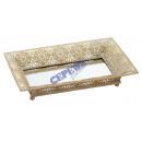 Metal mirror tray, mandala, small, ca.45,5x23cm