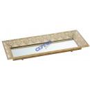 Metal mirror tray, mandala, gr., Ca.69,5x25,5