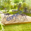 grossiste Meubles de jardin: Canapé de jardin, 3 pièces, métal brun, table Ø50c
