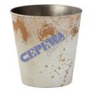Doniczka, Rusty White Brown, S, ca11x10,5cm