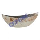 Miska dekoracyjna, Rusty White Brown, Oval, S, ca.