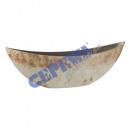 Deco Bowl, Rusty White Brown, Oval, L, ca.55x14cm