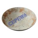 Deco Bowl, Rusty White Brown, Round, S, ca 28cmD