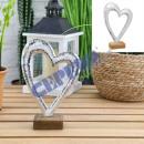 Heart on foot, gr., 25cmH