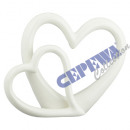 wholesale Other: Double heart, white, small, approx. 20cm