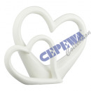 wholesale Other: Double heart, white, gr., Approx. 25cm