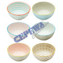 wholesale Other: Bowl colorful, 6 / s, small, ca.11,5cmD