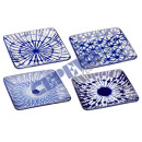 wholesale Other: plate square, blue-white, 4 / s, small, ca.16cm