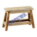 Mini wooden bench, ca.27x10x20cmH