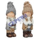 Zimowa dziewczynka Dekofigur, 2 / s, ok. 17 cm