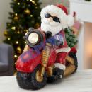Święty Mikołaj na motocyklu z oświetleniem LED, gr