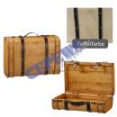 Truhen Koffer, Holz, 2er Set, gr., braun