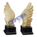 Angel wing on stand, 2 / s, S, ca.19cmH