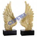 Angel wings on stand, 2 / s, L, ca.45cmH