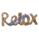 Großhandel Sonstige: Seilschriftzug Relax, ca.33x13cm