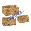 Storage basket, rectangular, set of 3,