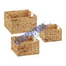 Storage basket, square, set of 3