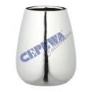 Großhandel Blumentöpfe & Vasen: Vase, bauchig, silber, kl., ca.16cmH