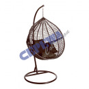 Hanging chair made of rattan with metal frame, bro