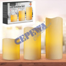 LED Candle Set Outdoor, 3 part